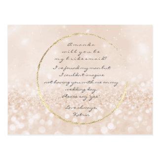 Cartão Postal Você será meu brilho do ouro do creme do marfim da