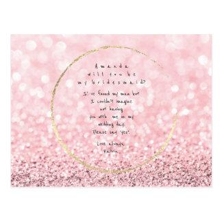 Cartão Postal Você será meu brilho do ouro do rosa do rosa da