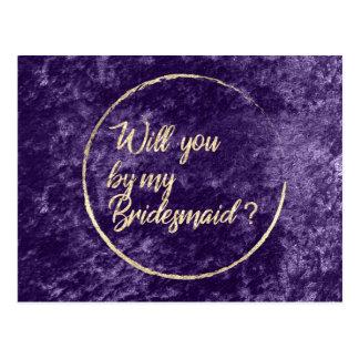 Cartão Postal Você será meu ouro da violeta da grinalda da dama