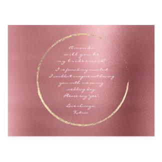 Cartão Postal Você será minha caixa cor-de-rosa do vermelho do