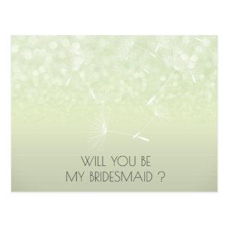 Cartão Postal Você será minha hortelã Ombre do dente-de-leão da