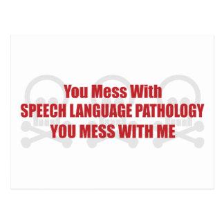 Cartão Postal Você suja com patologia que da língua do discurso