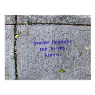 Cartão Postal Você trouxe-me a meus joelhos