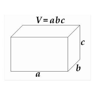 Cartão Postal Volume de um prisma retangular