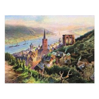 Cartão Postal Von Astudin, Bacharach am Rhein