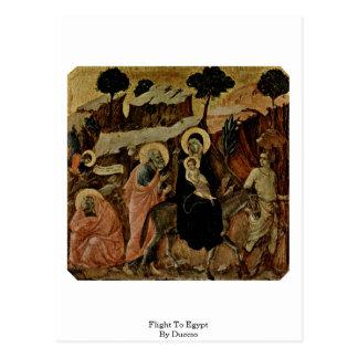 Cartão Postal Vôo a Egipto por Duccio