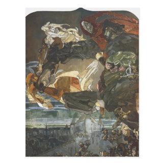 Cartão Postal Vôo de Mikhail Vrubel- de Faust e de Mephisto