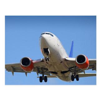 Cartão Postal Vôo do avião