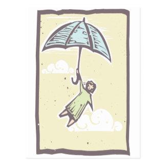 Cartão Postal Vôo do guarda-chuva