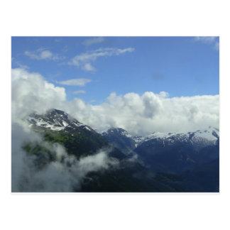 Cartão Postal Voo sobre as montanhas de Blackcomb
