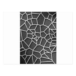 Cartão Postal Voronoi geométrico abstrato baixo p do conceito da