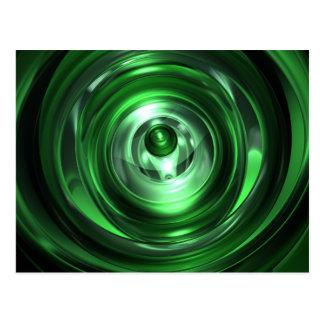 Cartão Postal Vortex verde