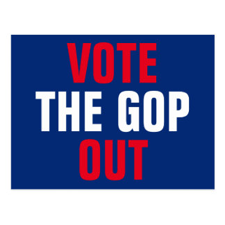 Cartão Postal Vote a eleição 2018 do GOP para fora