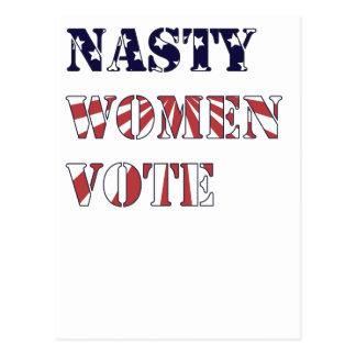 Cartão Postal Voto desagradável das mulheres