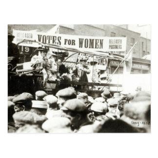 Cartão Postal Votos para mulheres, em agosto de 1908