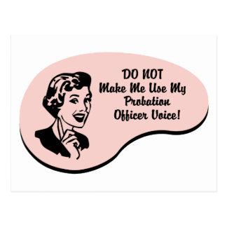Cartão Postal Voz do agente de saída precária