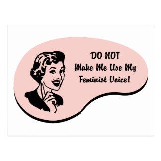 Cartão Postal Voz feminista