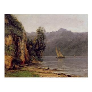 Cartão Postal Vue du Laca Leman, c.1873-77