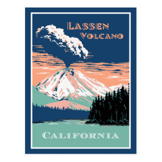Cartão Postal Vulcão Califórnia de Lassen