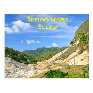 Cartão Postal Vulcão de Soufriere em St Lucia