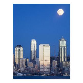 Cartão Postal WA, skyline de Seattle, Seattle e baía 4 de