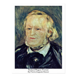 Cartão Postal Wagner-Retrato de Richard por Pierre-Auguste