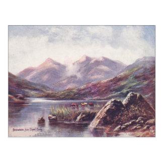 Cartão Postal Wales, Snowdon do Capel Cyrig