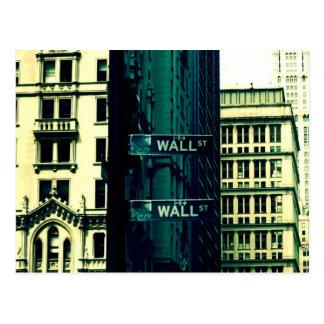 Cartão Postal Wall Street