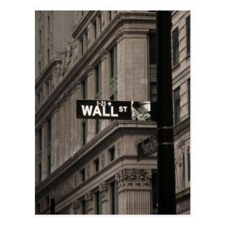 Cartão Postal Wall Street New York