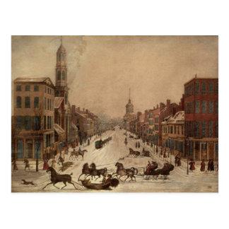 Cartão Postal Wall Street no inverno