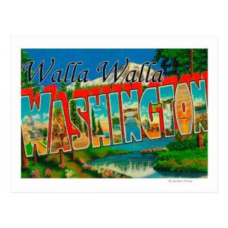 Cartão Postal Walla Walla, Washington - grandes cenas da letra