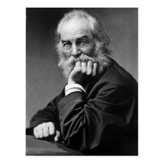 """Cartão Postal Walt Whitman """"cara sempre para a luz do sol """""""