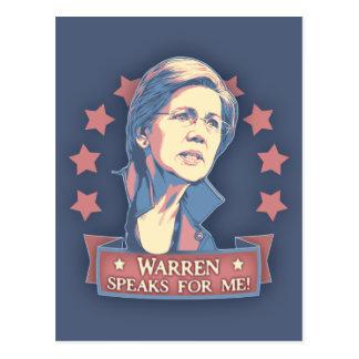 Cartão Postal Warren fala para mim