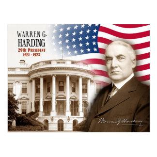 Cartão Postal Warren G. Harding - 29o presidente dos E.U.