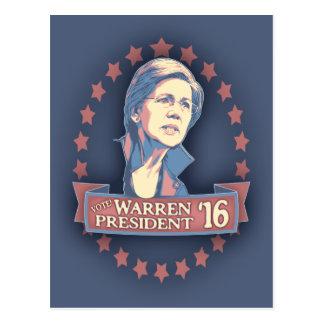Cartão Postal Warren Pres '16