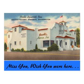 Cartão Postal Washington, a pensão espanhola do cozinheiro,