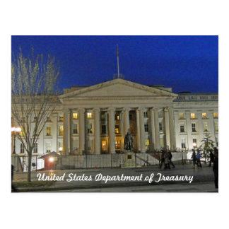 Cartão Postal Washington DC do departamento da Tesouraria dos