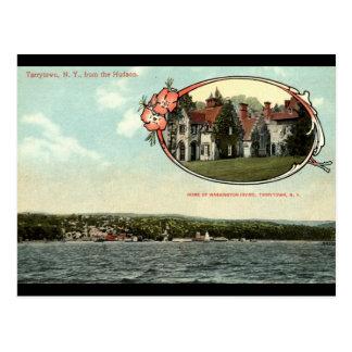 Cartão Postal Washington Irving, Tarrytown, vintage c1915 de NY