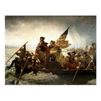Cartão Postal Washington que cruza o Delaware