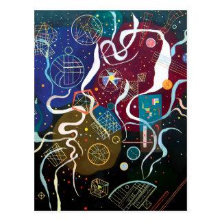 Cartão Postal Wassily Kandinsky - arte abstracta do movimento um