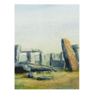 Cartão Postal Watercolours de Stonehenge