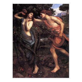 Cartão Postal Waterhouse Apollo e Daphne de John William