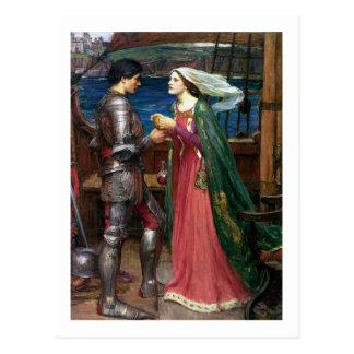Cartão Postal Waterhouse de John W - Tristan e Isolde (1916)