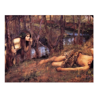 Cartão Postal Waterhouse de John William o Naiad