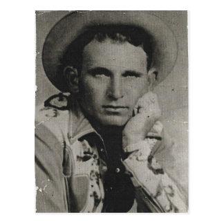 Cartão Postal Watts de Joe, vaqueiro de Texas