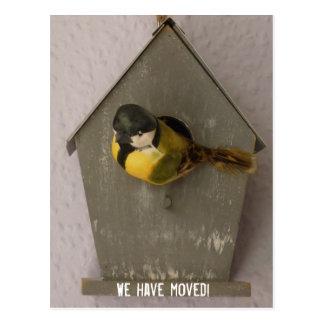 Cartão Postal We have moved! - postcard (Birdhouse)