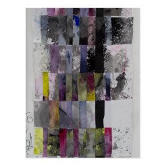 Cartão Postal Weave abstrato