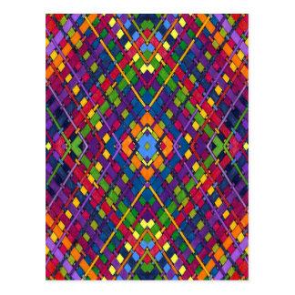 Cartão Postal Weave brilhante