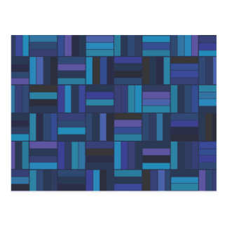 Cartão Postal Weave de cesta azul escuro