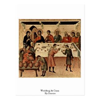 Cartão Postal Wedding em Cana por Duccio